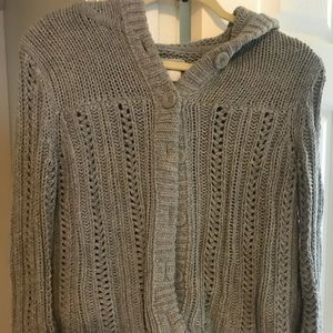 American Eagle Grey Sweater with hood